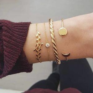 Jewelry - NEW 4pc Adjustable Cuff Bracelet Set